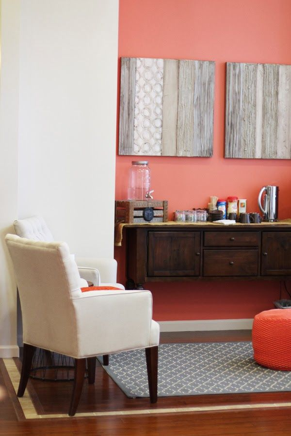 coral and grey office colors coral accent walls grey on office accent wall color id=36987