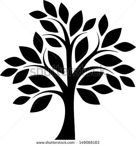 Decorative simple tree - stock vector