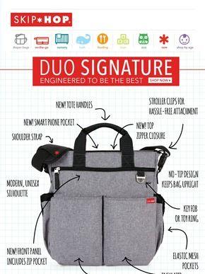 5b72f38cb76 Skip Hop Signature Duo Diaper Bag | BabyRecs | Baby diaper bags ...