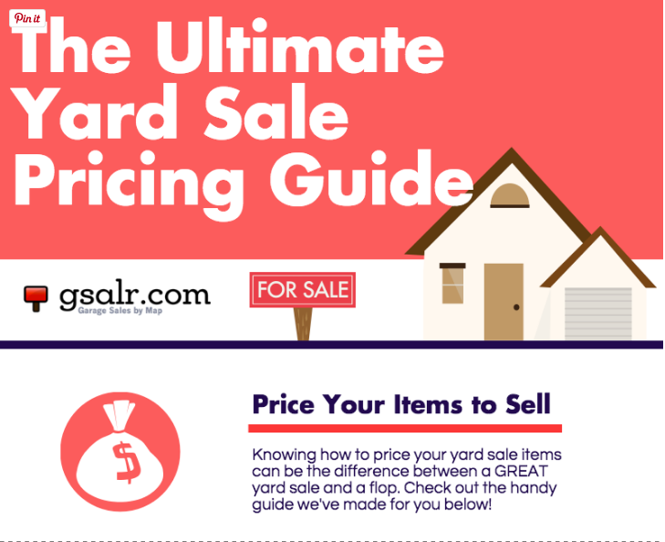 The Ultimate Yard Sale Pricing Guide Things To Try Garage Sale