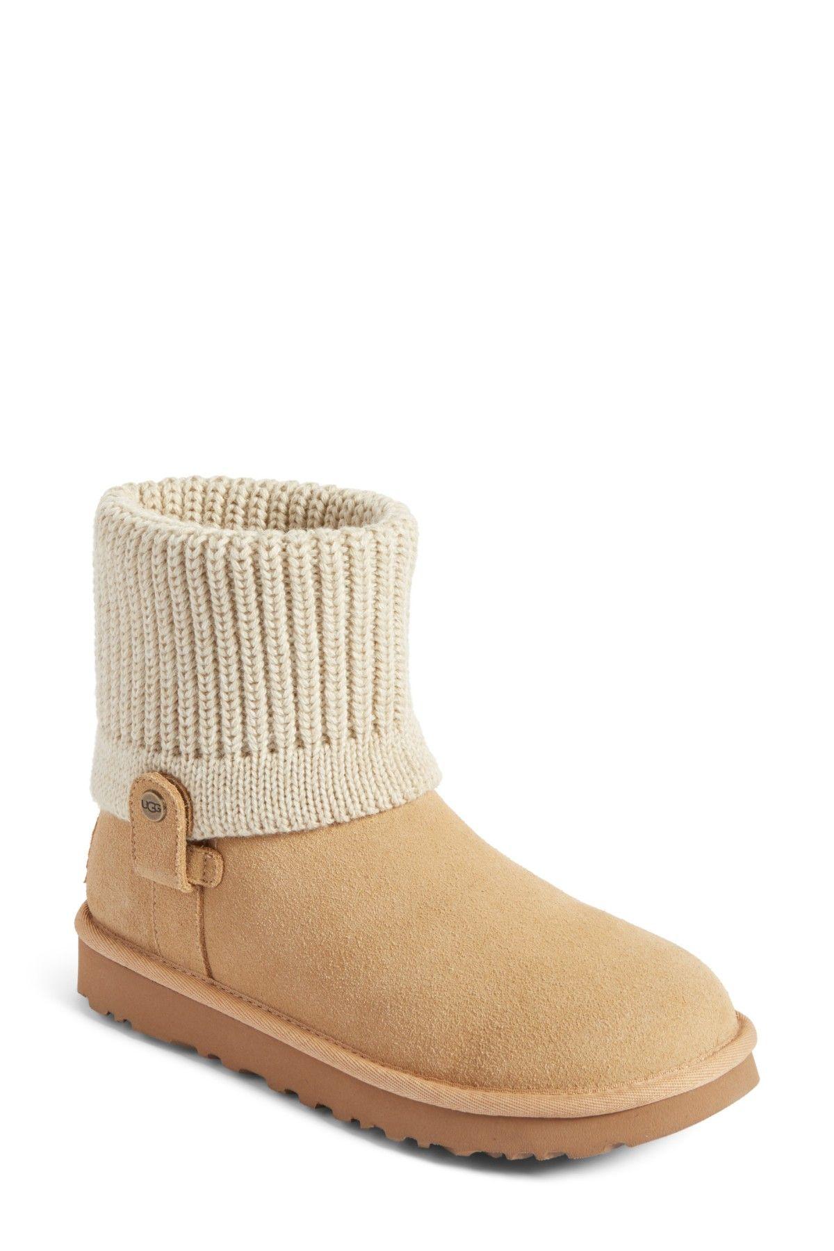 bc89e5686db Saela Rib-Knit Cuff Boot | Products | Uggs, Boots, Boot cuffs