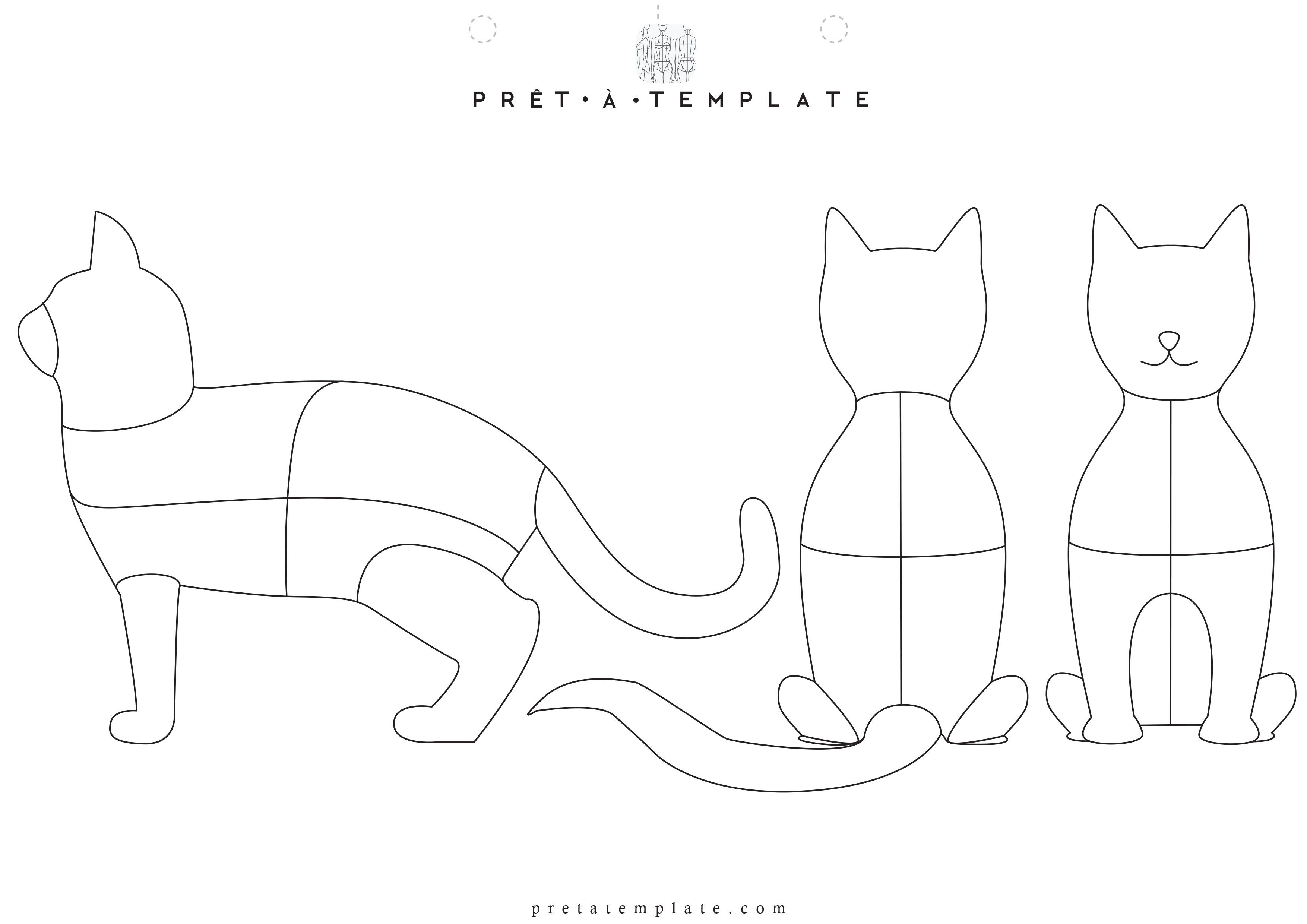 Pet Cat Body Figure Fashion Template D I Y Your Own Fashion