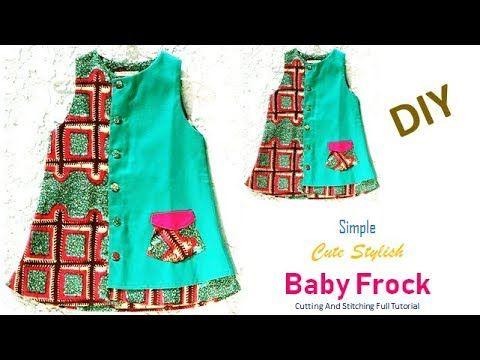 ac0eb00d0f17 DIY Cute Stylish Baby Frock Cutting And Stitching Tutorial - YouTube ...