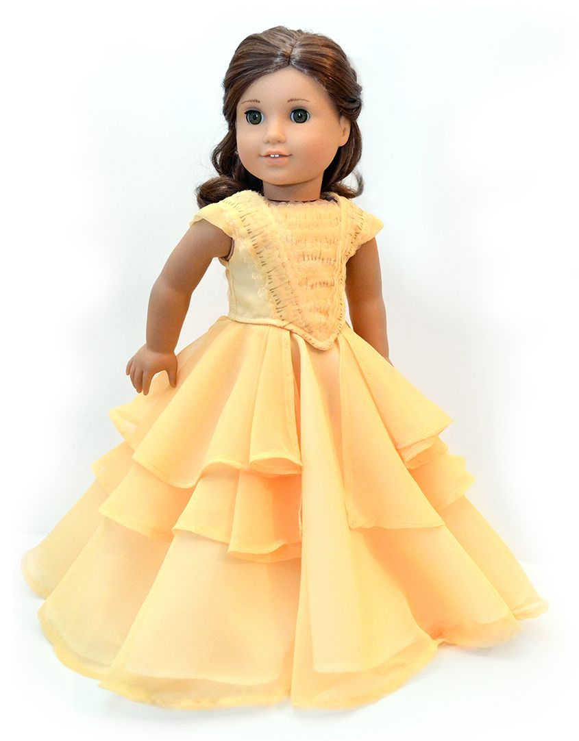 Belle Ball Gown Cosplay for 18 | Dollhouse design, American girls ...