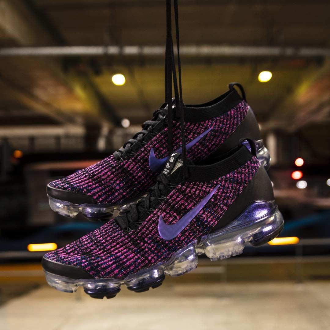 Nike Air VaporMax Flyknit 3 Black / Purple https://isds.co/sc ...