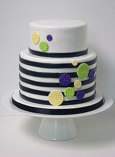 modern baby boys stripy cakes Google Search CakesBirthday