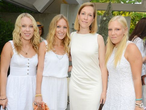 Emma and Isabel de Kooning Villeneuve with Amy Schichtel and Lucy de Kooning Villeneuve