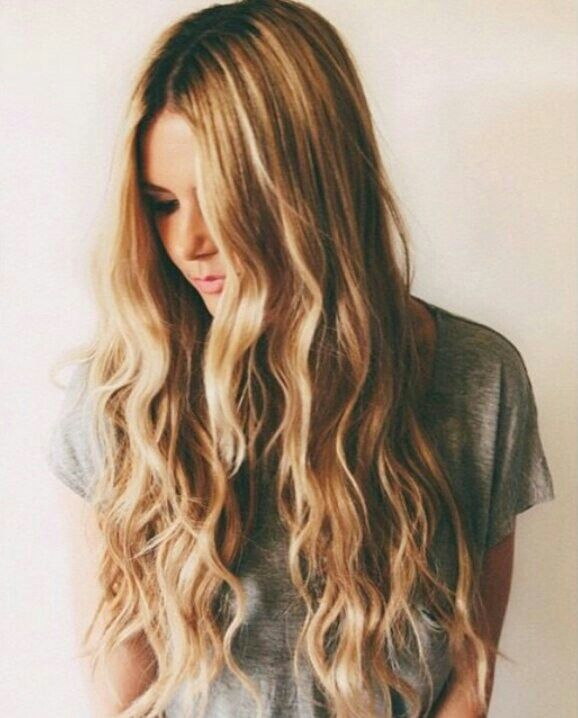 ~ hair goals ~ curly ~wavy ~ dipdyed ~ long ~ amazing ~ pretty ~ hairstyle ~ cute