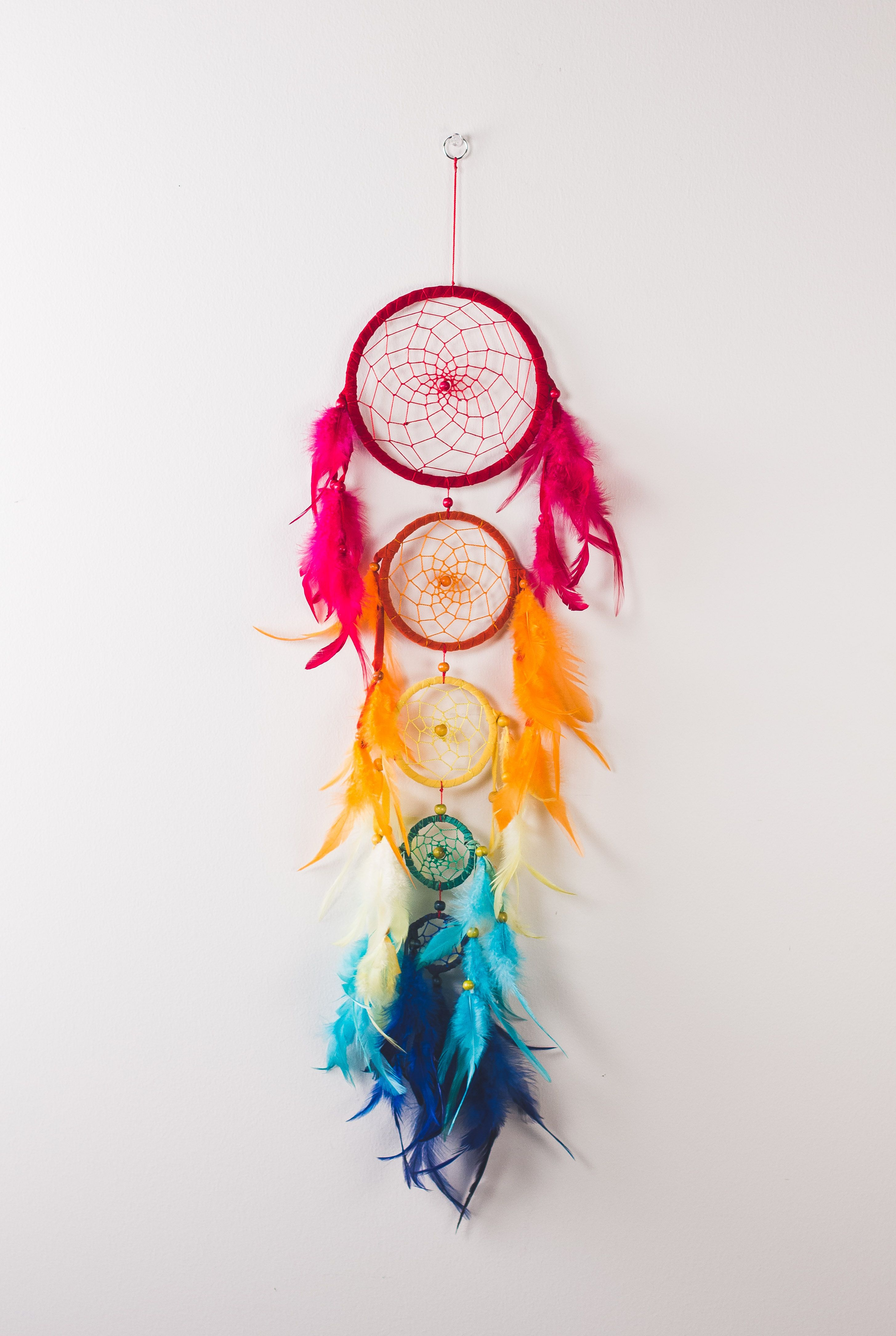 Nice Dream Catchers Fun colors that matches well a white black wall Hippy Love 30