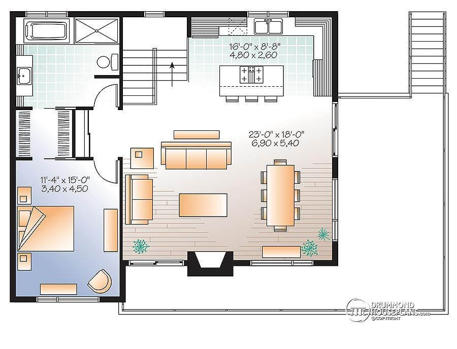 House plan W3966 detail from DrummondHousePlans план дома