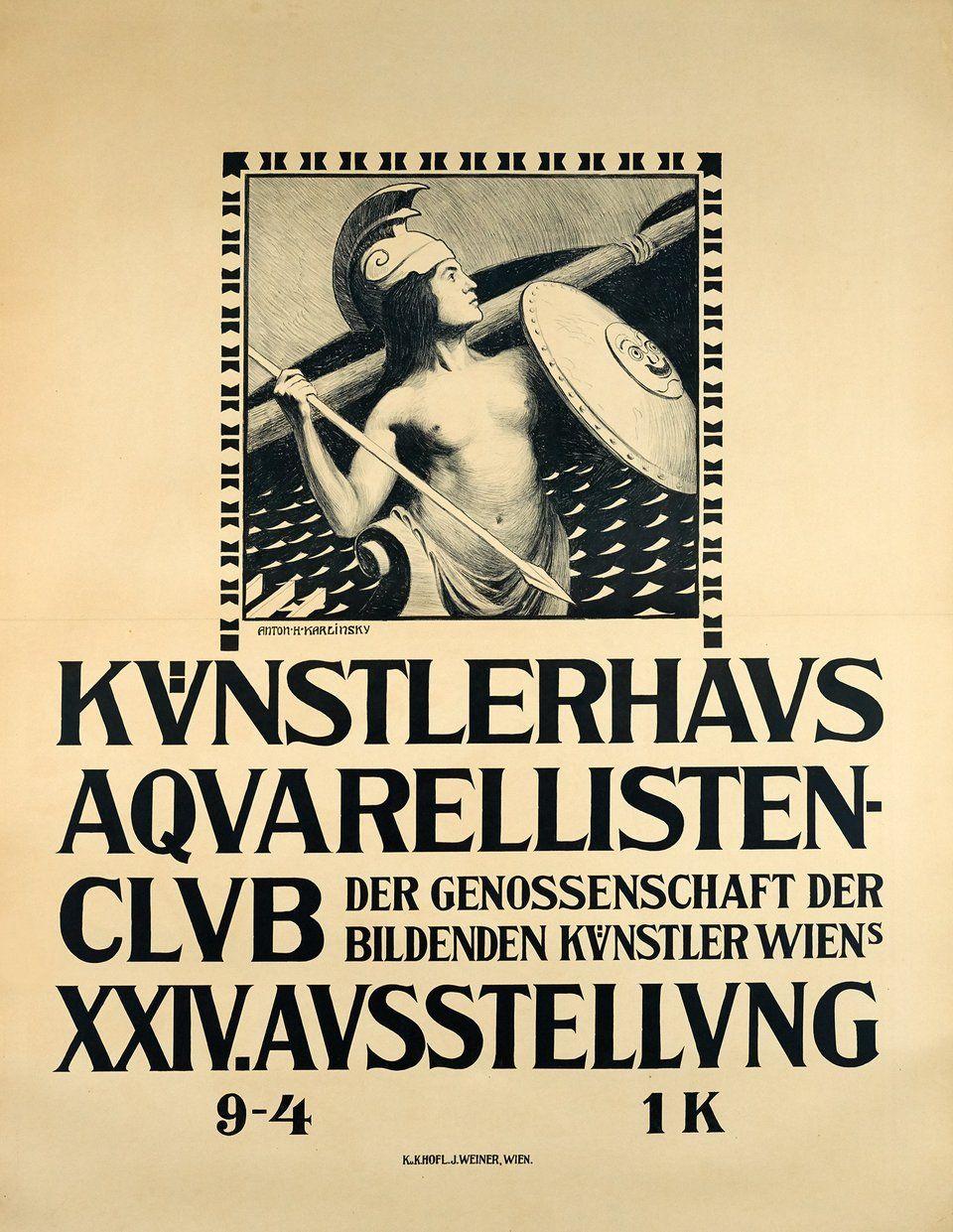 Vintage poster – Aquarellisten Club, Kunstlerhaus