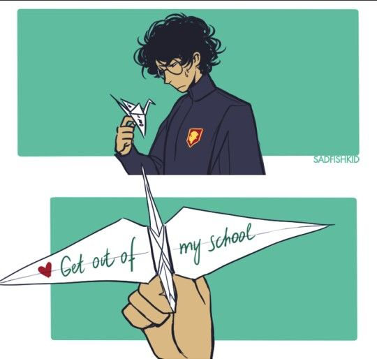 #Drarry Get out of my school part 2 @ sadfishkid