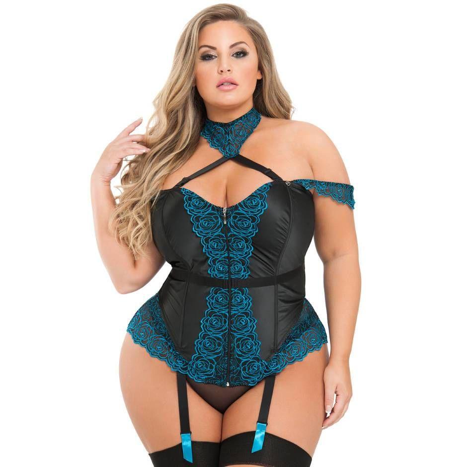 Busty lesbian corset