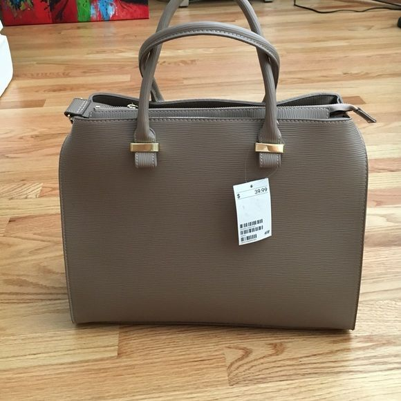 H&M taupe bag Got from another posher. Never been used. H&M Bags Totes