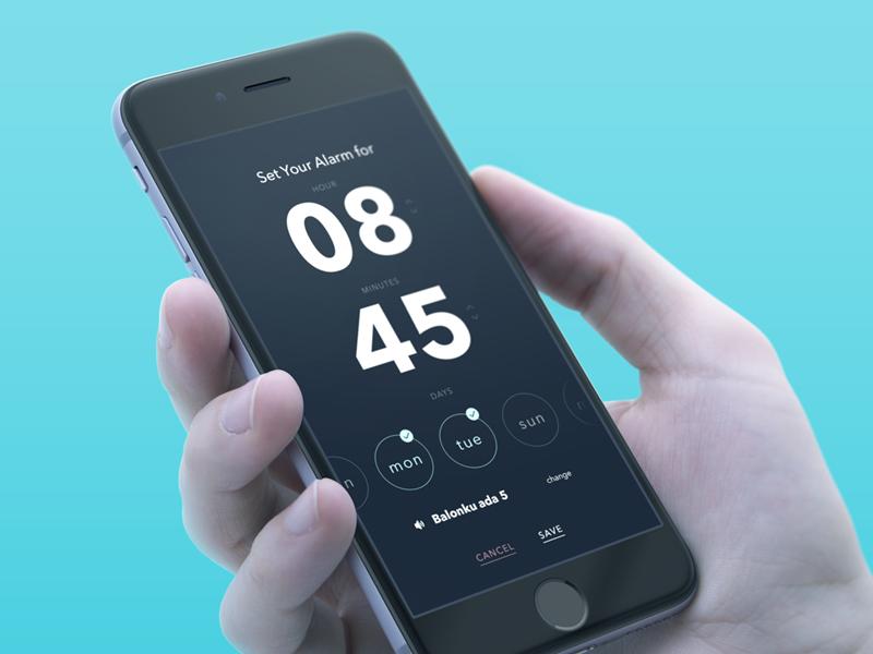 Alarm App exploration by Adam bagus