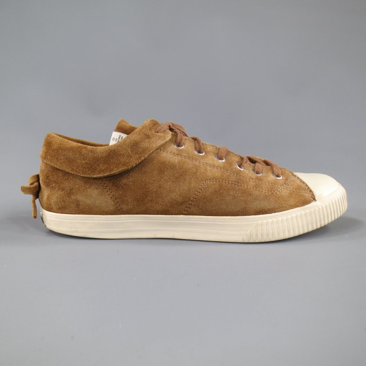 new styles ac060 34f45 ... VISVIM Size 11 Light Brown Suede Gabo Lo Kudo Sneakers ...