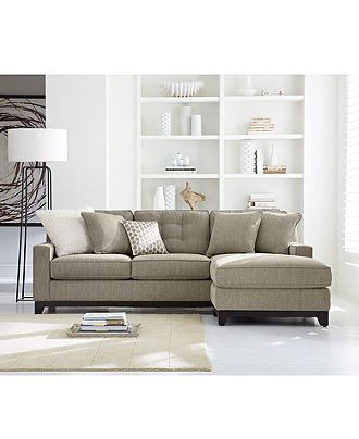 Clarke Fabric Sectional Sofa Living Room Furniture Sets Pieces Living