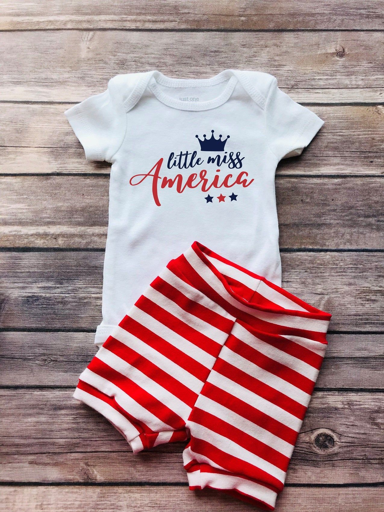 Little Miss 4th of July Newborn Baby Clothes Romper Sleeveless Summer for Baby