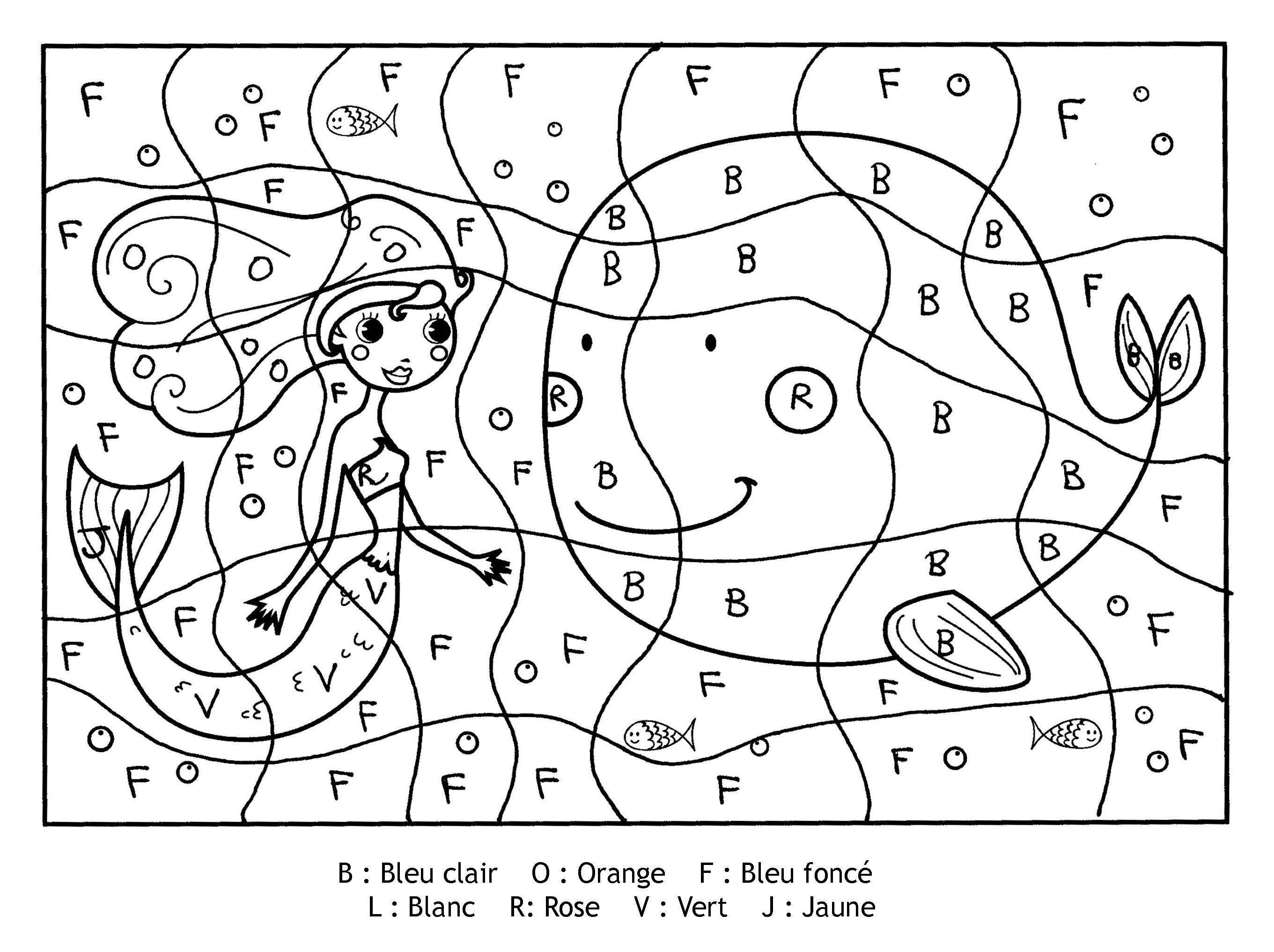 Pour imprimer ce coloriage gratuit coloriage magique lettres sirene cliquez