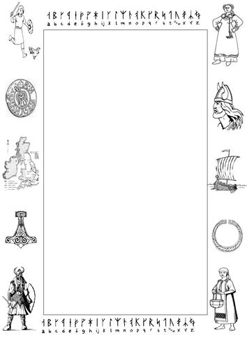 Clothes runes alphabet viking writing template and viking warrior clothes runes alphabet viking writing template and viking warrior colouring activity plus material maxwellsz