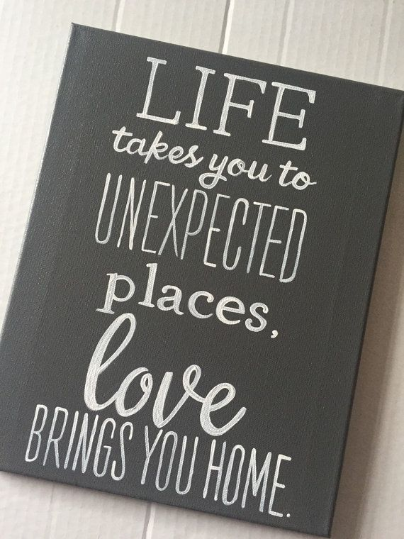 Love Brings You Home Quote