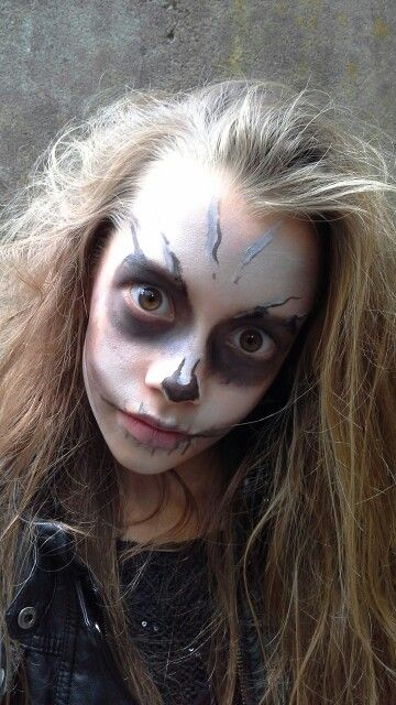 Halloween Zombie Schmink.Facepaint Schmink Halloween Zombie My Facepaint Skills