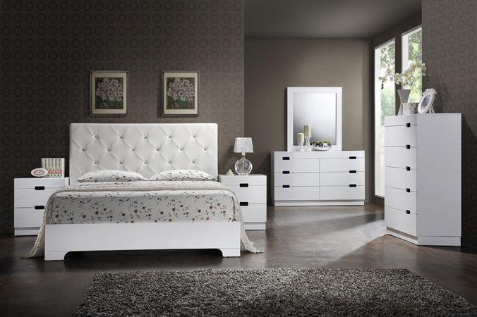 Best Asia Direct Vicky 5 Pc Vicky Glossy White Finish Wood 640 x 480