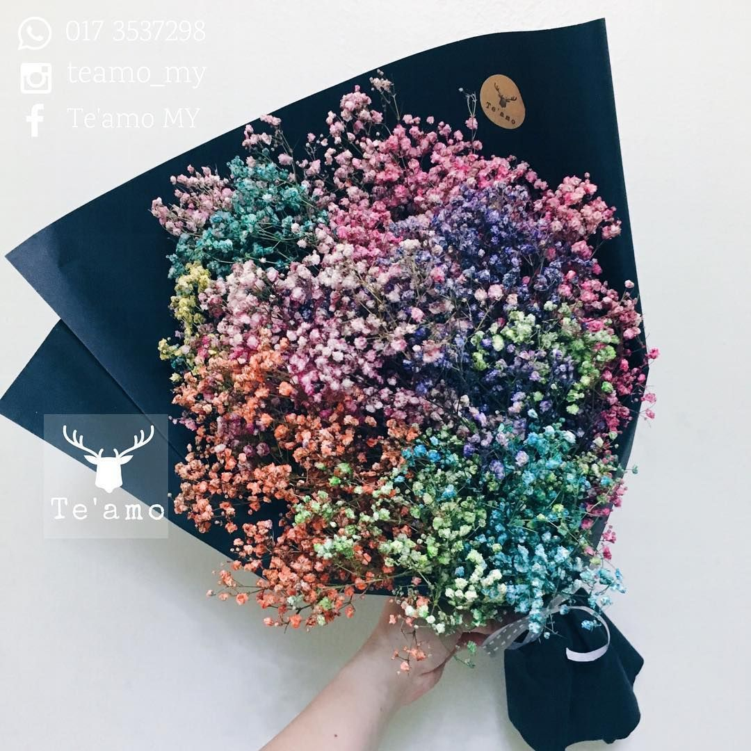 Te Amo My On Instagram Rainbow Marshmallow In The Night Flowers Bouquet Wedding Flowers Trendy Flowers