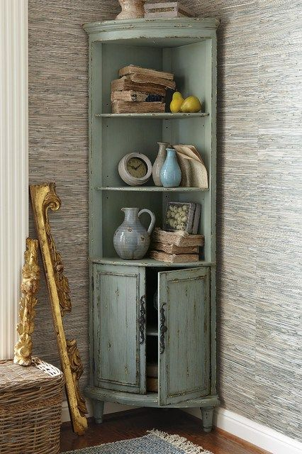 Repurposed China Cabinet Living Room