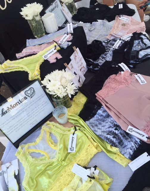 harMonica Design - Summer 2015 collection at Renegade Brooklyn. June 2015. Made in NYC #ecolingerie #visibleintimates #spiritedlingerie
