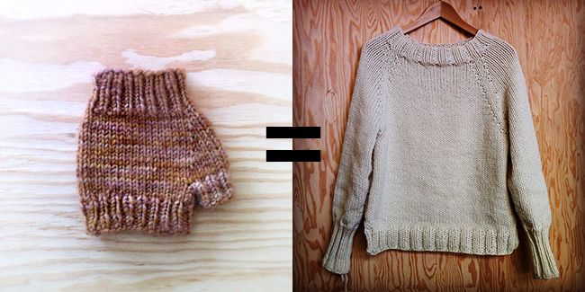 How to improvise a top-down sweater: Introduction (Or, If you can knit a mitt, you can knit a sweater). [Find more of Aunt Ruth's favorite knitting tech pins at https://www.pinterest.com/yrauntruth/fiber-knit-techniques-tutorials/ ]