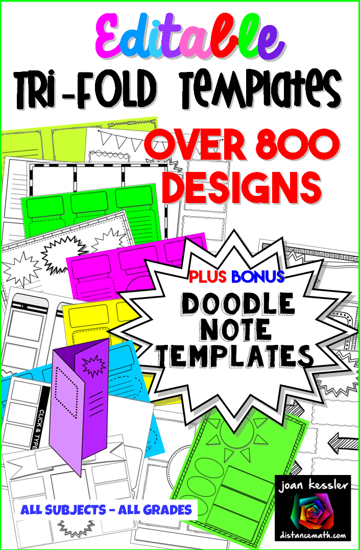 editable tri fold doodle pages brochure and graphic organizer