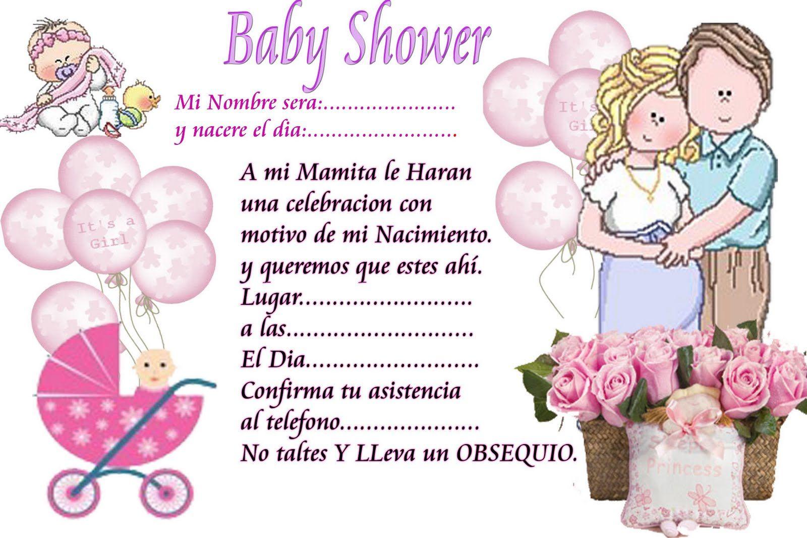 Pin De Betty Mendoza En Invitaciones Baby Shower Virtual