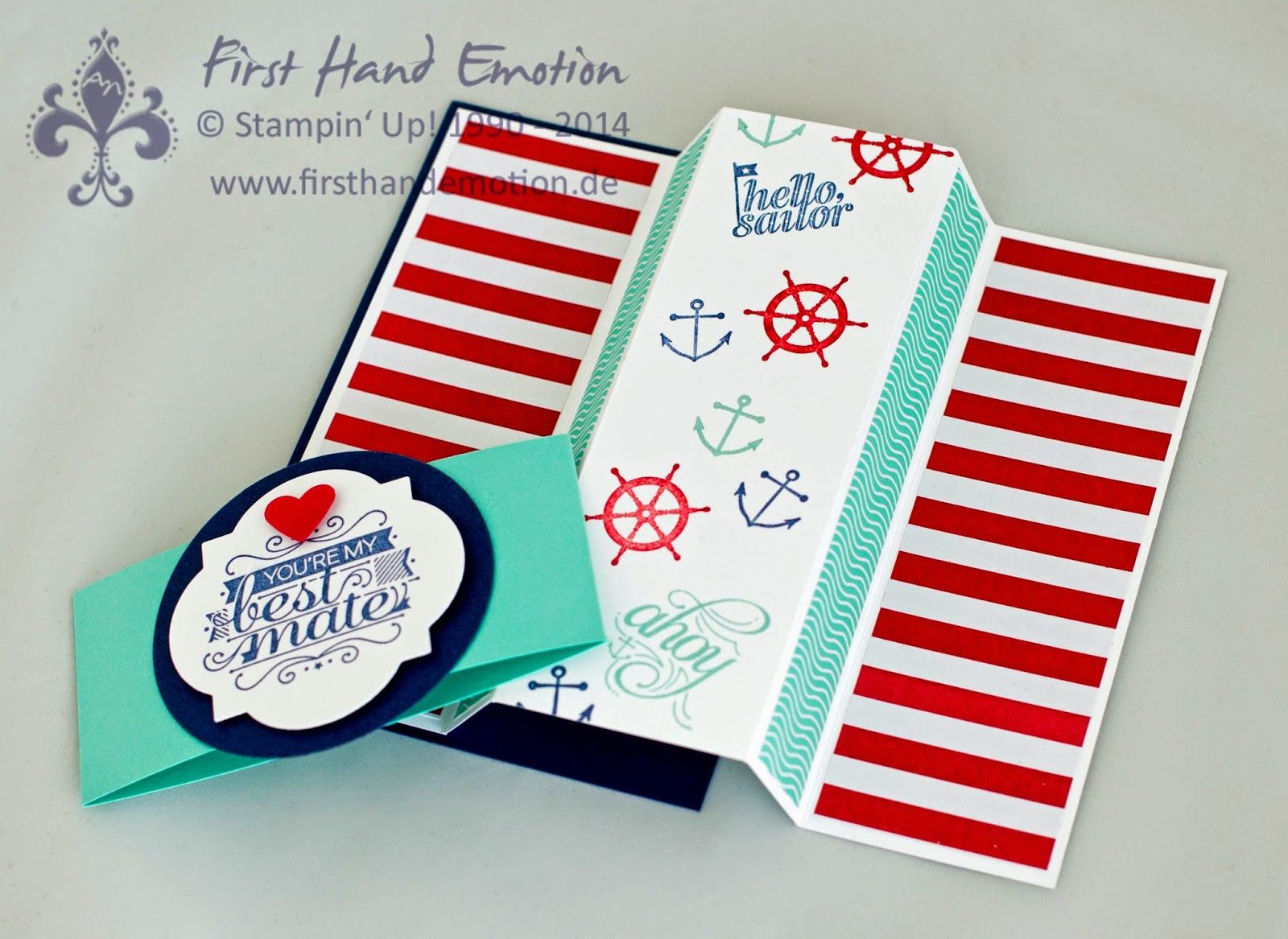 Stampin' Up! by First Hand Emotion: IN{K}SPIRE_me Challenge #152: Hello, Sailor