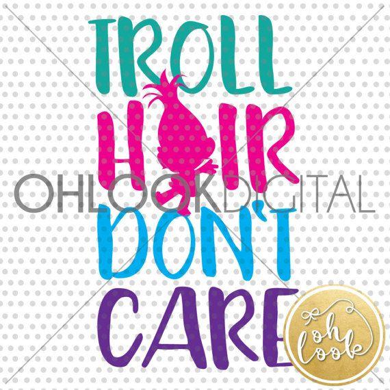trolls svg cutting file troll