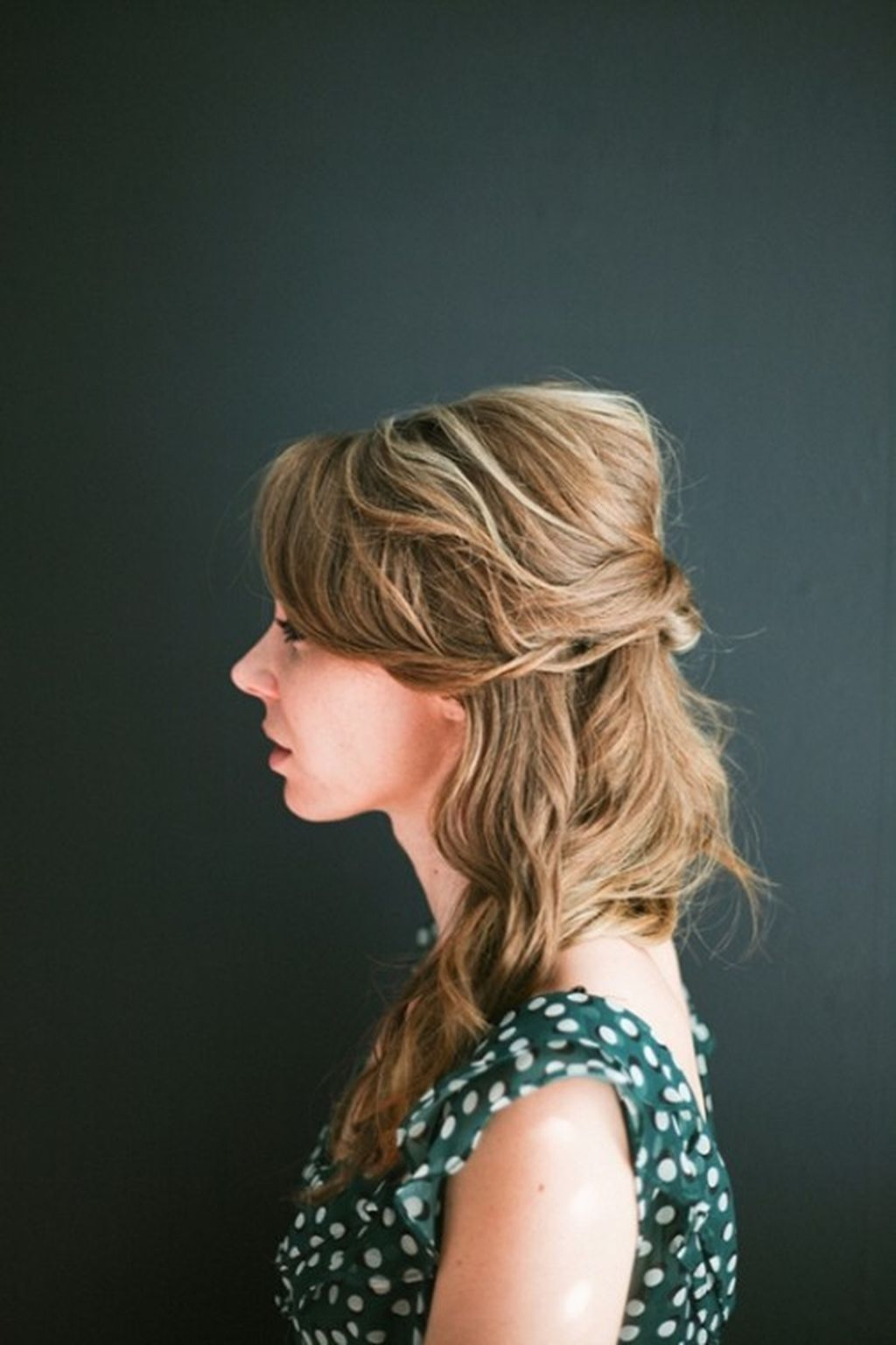 easy half up hairstyle ideas for valentines day dinner prom