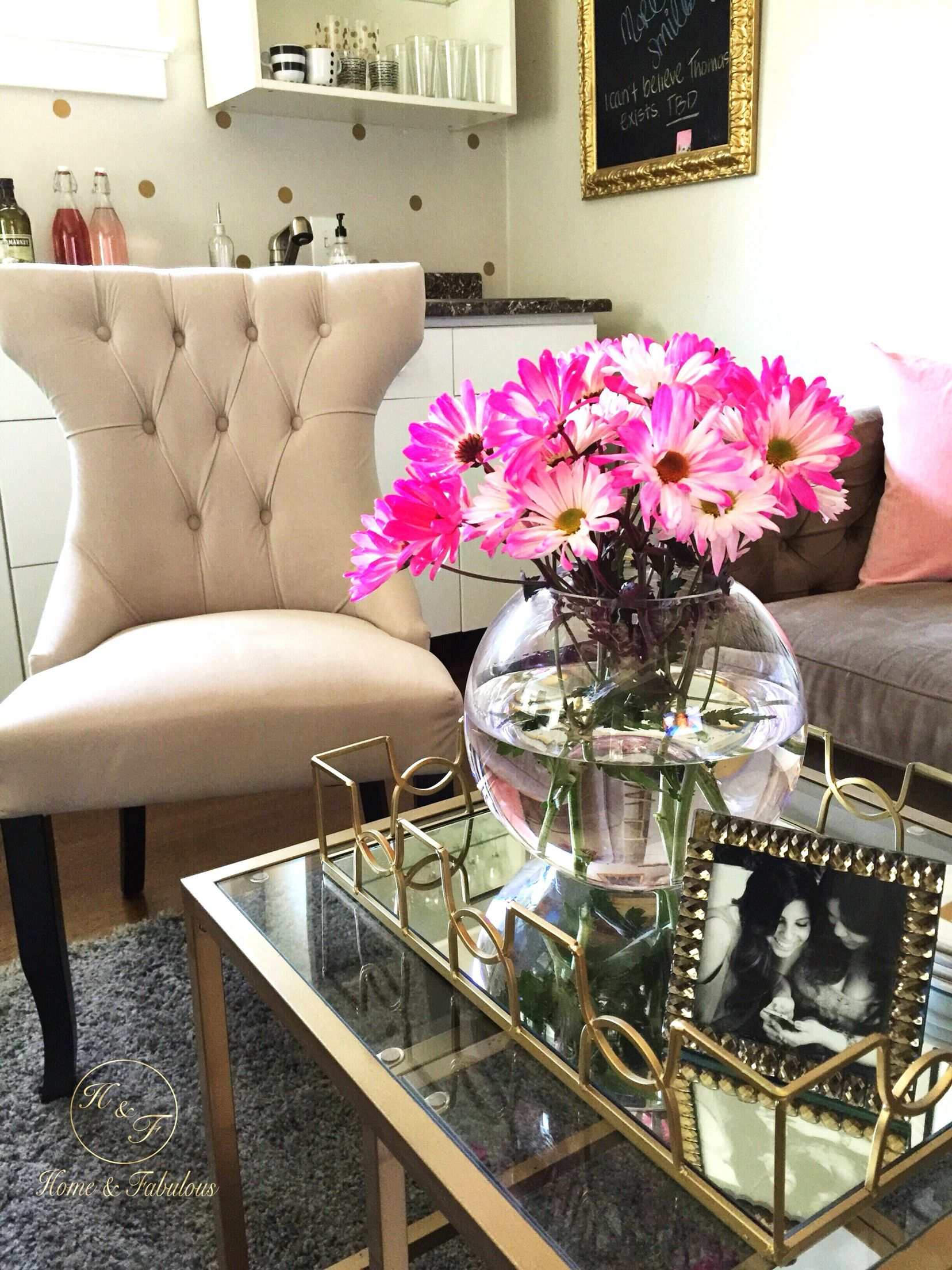 I Love This Neutral Tufted Chair From HomeGoods Because It Adds Elegance To My Living Room