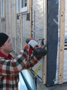 How To Install Rigid Foam Sheathing Exterior Wall Insulation Exterior Insulation Installing Siding