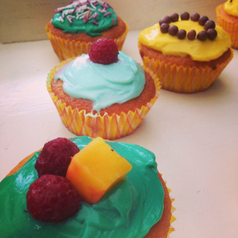 Färgglada muffins