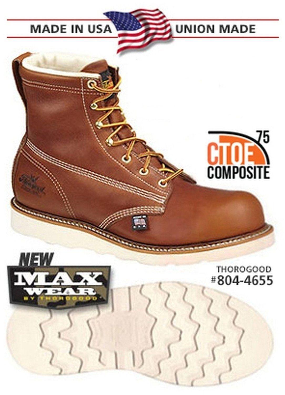 8044655 Thorogood Men's MAXwear Safety Boots Brown
