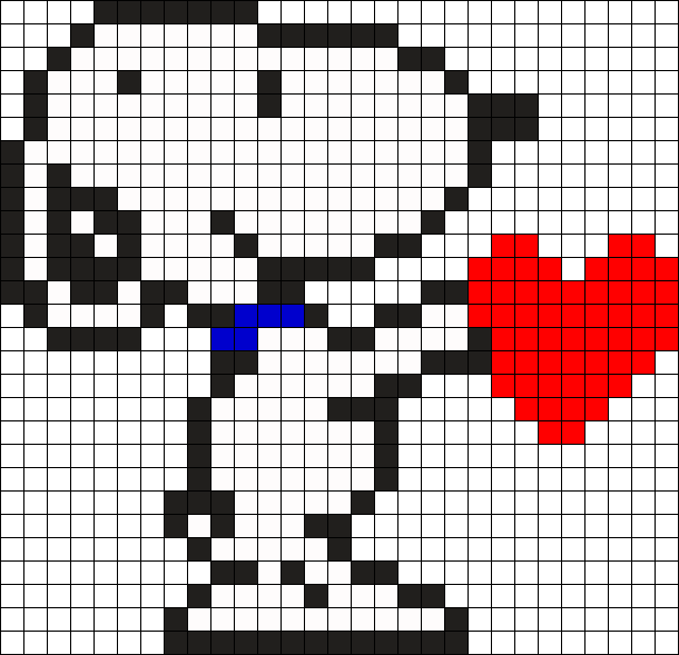 Snoopy Giving Love Perler Perler Bead Pattern / Bead Sprite ...