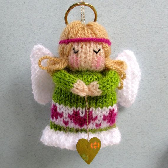 LITTLE ANGELS - 4 (10cm) - Christmas decoration - Doll knitting pattern - Pdf instant download #instructionstodollpatterns