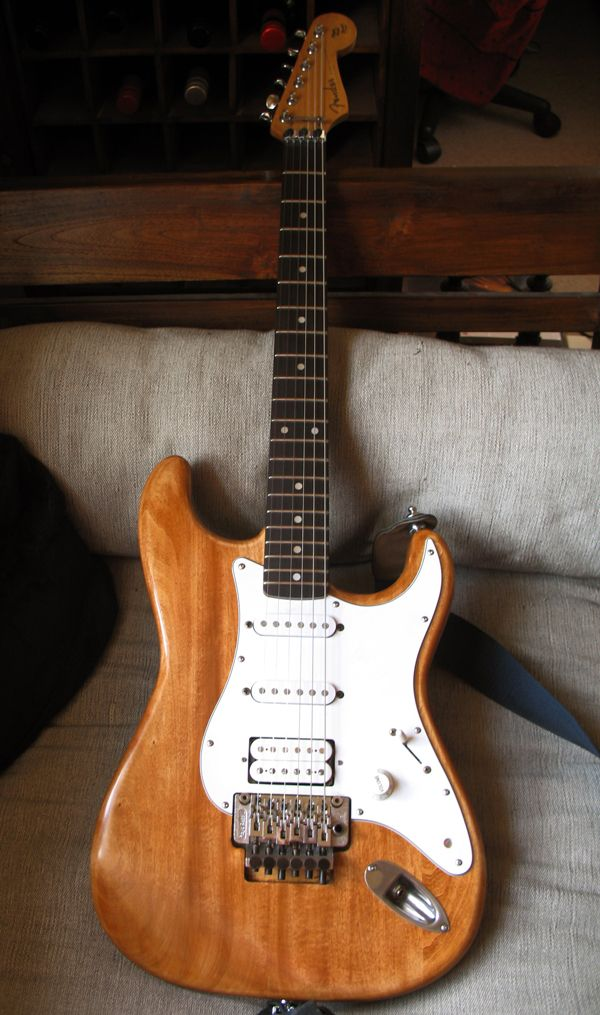 Refinishing the Stratocaster → Finished with single coils in it.
