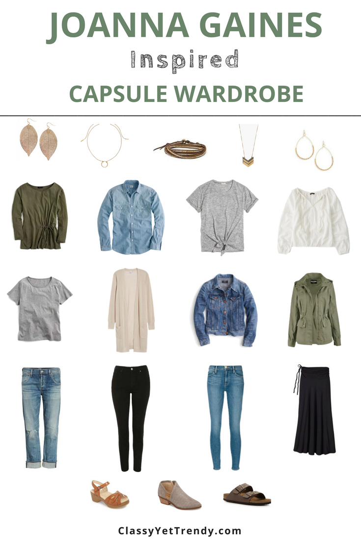 Joanna Gaines Inspired Capsule Wardrobe: 10 Outfit Ideas