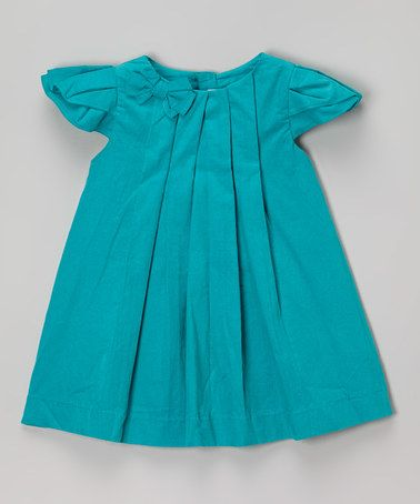 Look what I found on #zulily! Turquoise Angel-Sleeve Dress - Infant & Toddler #zulilyfinds