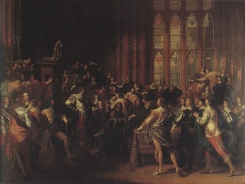 (John S. Copley) Charles I In The House Of Commons [