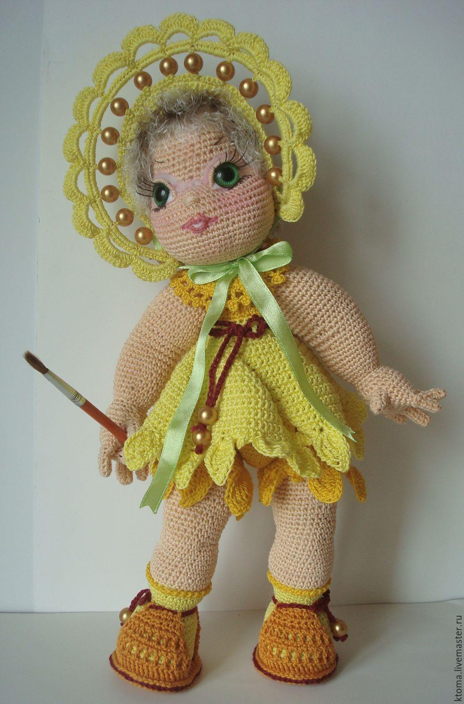 """МК """"Осенница золотая"""". Авторское описание вязания игрушки ..."""