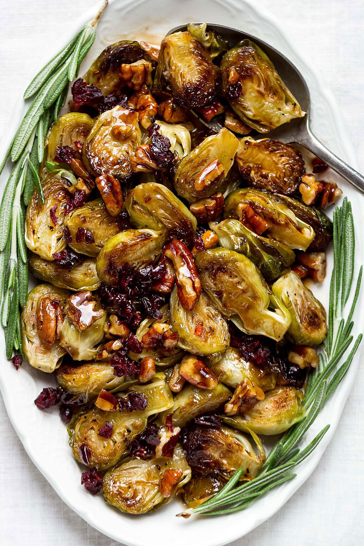 Balsamic Honey Roasted Brussels Sprouts Recipe