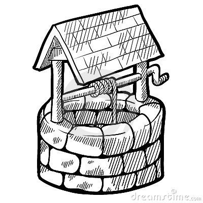 Wishing Well Drawing Google Search Preschool Coloring Pages