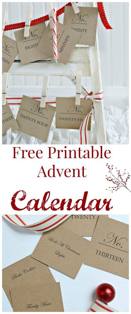 DIY Advent Calendar Advent calendars, Free printable and Chocolate